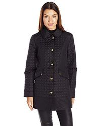 Ellen Tracy - Outerwear Quilted Barn Coat - Lyst
