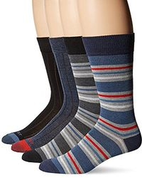 Rockport - Ribbed Striped Crew Sock - Lyst