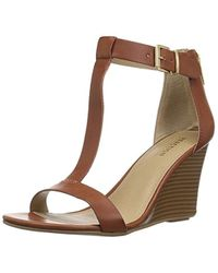 Kenneth Cole Reaction - 7 Ava Crave T-strap Wedge Sandal - Lyst