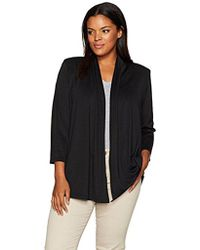 Kasper - Plus Size 3/4 Sleeve Cardigan With Back Waist Detail - Lyst