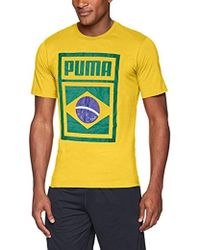 64da719a03a PUMA Forever Football Country T-shirt in White for Men - Lyst