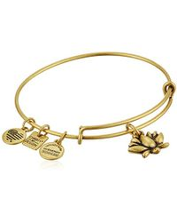 ALEX AND ANI - Charity By Design Lotus Blossom Bangle Bracelet - Lyst