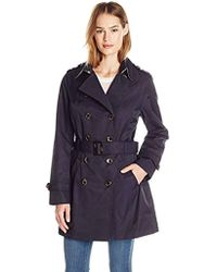 Jones New York - Double-breasted Trench Coat - Lyst