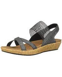 Skechers 's Brie Open Toe Sandals - Black