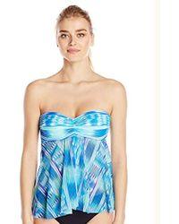 Gottex - Bandeau Flyaway Tankini Top Swimsuit - Lyst