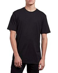 Volcom - Premium Basic Fit Classic Solid Short Sleeve Tee - Lyst