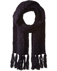 Nautica - Basket Weave Knit Oblong Scarf With Self Knot Fringe - Lyst