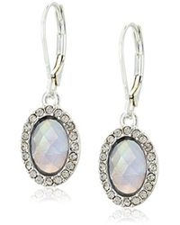 "Anne Klein - ""coastal Cruise"" Silver-tone/purple Single Drop Earrings - Lyst"