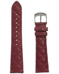 Michele - Ms20ab370600 20mm Leather Calfskin Red Watch Strap - Lyst