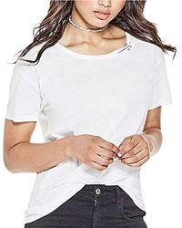 Guess - Short Sleeve Bull Ring Cut Out T-shirt - Lyst