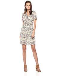 Ella Moon - Kelli Short Sleeve V-neck Border A-line Dress - Lyst