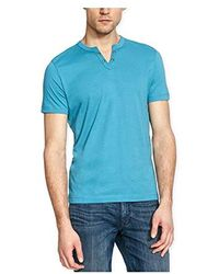 Kenneth Cole Reaction - Short Sleeve Eyelet Henley Shirt - Lyst