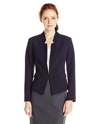 Ellen Tracy - Petite Size Inverted Rever Jacket - Lyst