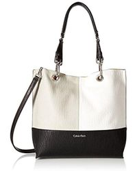 Calvin Klein - Sonoma Faux Leather Reversible Novelty North/south Tote - Lyst
