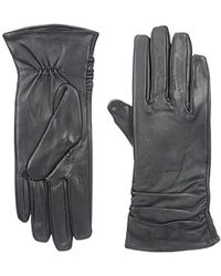 Marc New York - Marc New York Manhattan Leather Glove With Rouching Detail - Lyst