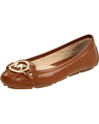 MICHAEL Michael Kors - Fulton Mk Buckle Leather Moccasin Flats - Lyst