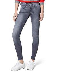 Restored Mid Jeans Lyst Star Lynn In Skinny Black Raw G qwXSYtY