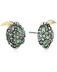 Alexis Bittar - Lime Poat Earrings, Antique Rhodium With 10k Gold Accents, One Size - Lyst