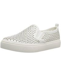 Cardabello Laser Perforated Rhinestone Jeweled Slip On Sneakers GA5sa65hr