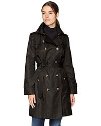 """London Fog - Double Breasted 36"""" Trench With Single Flap - Lyst"""