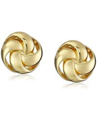 "Anne Klein - ""classy Clippers"" Gold-tone Knot Clip-on Earrings - Lyst"