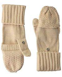 Calvin Klein - Lurex Texture Flip Top Glove - Lyst