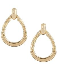 Napier - Gold-tone Doorknocker Stud Earrings - Lyst