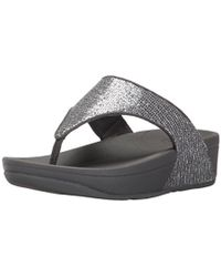 Fitflop - Lulu Superglitz Textile Sandal - Lyst