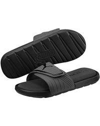 7572c85911140c Lyst - Puma Starcat Bold Plus Slide Sandal in Black for Men