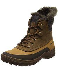 Lyst - Merrell Sylva Mid Buckle Waterproof Boot in Brown 93a5eca6364