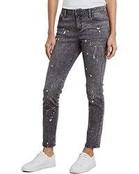 56a1632b6d Kenneth Cole Wide Cuff Boyfriend Jeans in Blue - Lyst