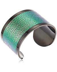 "Diane von Furstenberg - ""rainbow Rocks"" Rainbow Leather Inlay Cuff Bracelet - Lyst"