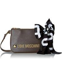 7ad4066593e Love Moschino Borsa Soft Grain Pu Shoulder Bag in Black - Lyst