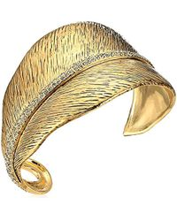 House of Harlow 1960 - Gold Cedro Cuff Bracelet - Lyst
