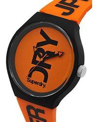 Superdry - 'urban' Quartz Plastic And Silicone Casual Watch, Color:orange (model: Syg189ob) - Lyst
