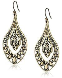 Lucky Brand - S Sahara Dust Filigree Oblong Earring - Lyst