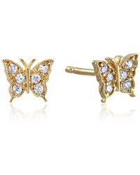 Tai - Butterfly Post Stud Earrings - Lyst