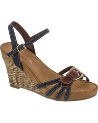 afe6d3ddff0 Lyst - Aerosoles Plush Around Wedge Sandal in Natural - Save 30%