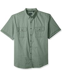G.H. Bass & Co. - Big And Tall Short Sleeve Solid Pigment Dyed Shirt - Lyst