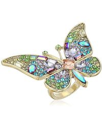 Betsey Johnson - S Blooming Betsey Butterfly Statement Ring, Multi, One Size - Lyst