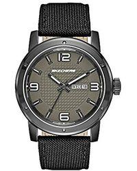 Skechers - 'neutral Canvas Strap' Quartz Metal And Nylon Casual Watch, Color:black (model: Sr5087) - Lyst