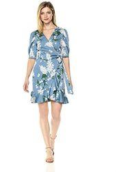 Keepsake - Moment Short Sleeve Ruffle Mini Wrap Dress - Lyst