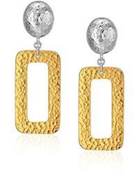 Gurhan - Mango Sterling Silver Hammered Rectangle Post Drop Earrings - Lyst