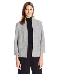Anne Klein - Boiled Wool Cardigan - Lyst