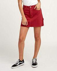 0b421a5d14 RVCA - Hunn Neo Mini Skirt - Lyst
