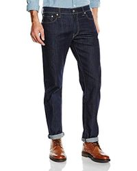 38741836 Levi's 522 Slim Tapered Jeans in Black for Men - Lyst