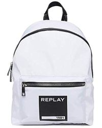 Replay - Fu3059.000.a0093a Unisex Adults' Backpack, White (optical White), 14x41x30 Centimeters (b X H X T) - Lyst
