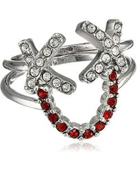Rebecca Minkoff - Smile Face Stackable Ring, Size 7 - Lyst