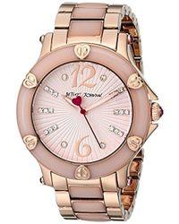 Betsey Johnson - Bj00459-04 Analog Display Quartz Rose Gold Watch - Lyst