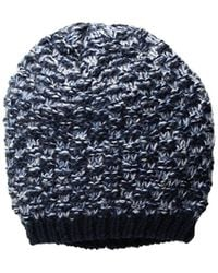 Nautica - Marled Textured Knit Pull-on Hat - Lyst
